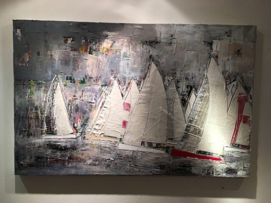 """""""Graues Wasser"""" von Heinke Böhnert,Original 140x90cm, Acryl auf Leinwand"""